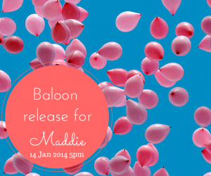 please remember to release your baloons at 5pm FRENCH time, that's 4pm in the UK